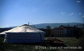 Jurten in Ulan Bator (Ulaanbaatar) - Mongolei
