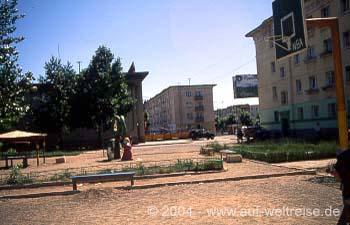 Wohngebiet in Ulan Bator (Ulaanbaatar) - Mongolei