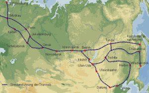 Transsibirische Eisenbahn (Transsib) Russland