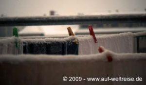 Wäsche im Winter