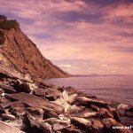 Baikal, Insel Olchon, Russland, Sibirien, Wasser, See, Küste, Fels, Steine Felsen, Ufer, Himmel, blau, Wolken