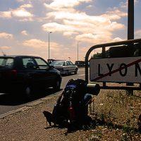Frankreich, zu Fuss, Trampen, reisen, unterwegs, Straße
