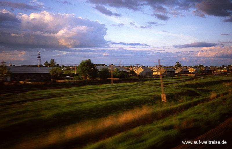 Russland - Transsibirische Eisenbahn Sibirien Zug, Strecke