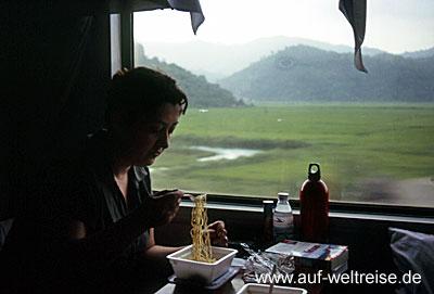 Eisenbahn, Vietnam, Bahn, Zug, Lok, Wagon, Natur, langsam,