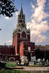 Russland, Moskau, Kreml, Turm, Eingang, Himmel, Wolken, rot, Mauer, Kremlmauer, Spasskij-Turm, Erlöserturm