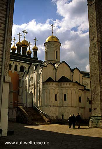 Russland, Moskau, Kreml, Kirche, Kathedrale, Zar, russisch, orthodox, Architektur, Türme, Maria-Gewandniederlegungs-Kirche
