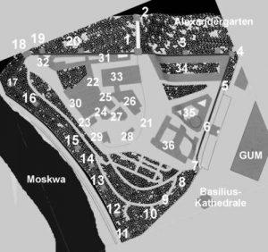Russland, Kreml, Moskau, Karte, Lageplan