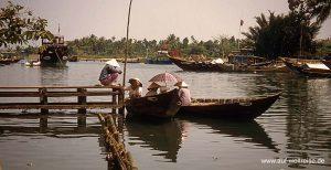 Vietnam, Ho An, Zentralvietnam, Südchinesisches Meer, Museumsdorf, UNESCO, Südostasien, Seidenstraße, Boote, Fluss, historisch Menschen, Wasser, Bäume, Wasserstraße