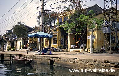 Vietnam, Ho An, Zentralvietnam, Südchinesisches Meer, Museumsdorf, UNESCO, Südostasien, Seidenstraße, Boote, Fluss, historisch Menschen, Wasser, Bäume, Wasserstraße,