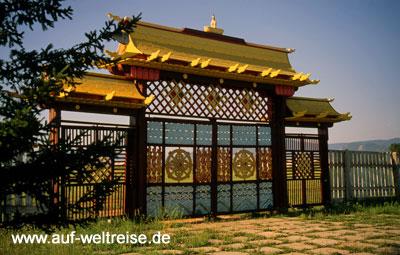 Russland Lamakloster Iwolginsk Eingangsportal