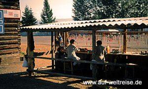 Russland Lamakloster Iwolginsk Souvenirstände