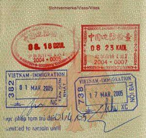 Visum Einreisestempel für Vietnam