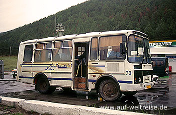 Russland, Asien, Bus, Transport, Transportmittel, Baikal, Sibirien