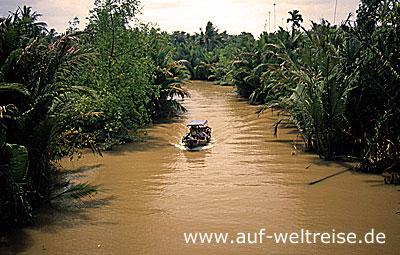 Vietnam, Südostasien, Asien, Mekong, Delta, Kanäle, Boot, Bootstour, Chau Doc, Fluss