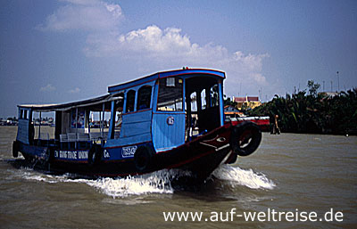 Vietnam, Südostasien, Asien, Mekong, Delta, Boot, Fluss, Lastkahn