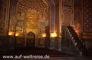 Usbekistan, Samarkand, Zentralasien, Asien, Mittelasien, Moschee, Bauwerk, Kirche, Glauben