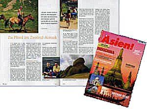 Zeitschrift, In Asien, Zentralasien, Asien, Südostasien