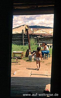 Gorki-Tereldsh, Nationalpark, Mongolei, Zentralasien, Chentij-Gebirge, Nomaden, Steppe, Grassteppe, Berge, Haus, Ger, Jurte