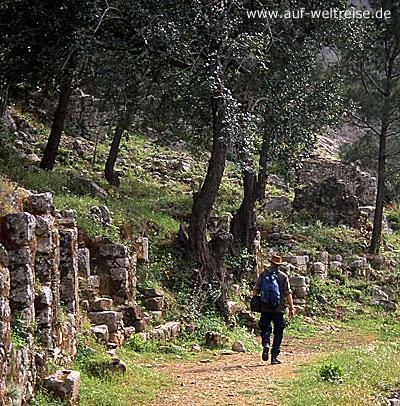 Türkei, Europa, wandern, Wanderweg, Wanderer, Mann, Mensch, Weg, Wanderung