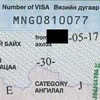 Einreisekarte, Visum, Zollerklärung, Grenzzonenschein, Visa, Mongolei, Zentralasien, Asien