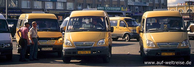 Taxi, Sammeltaxi, Local Taxi, Dolmus, Matatu, Txi-brousse, Louage, Daladala, Colectivo, Russland, Moskau