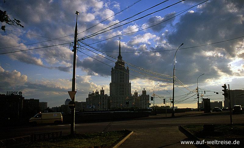 Russland, Sowjetunion, Außenministerium, Moskau, Stalinbau, Architektur, Zuckerbäckerstil, Kassizismus