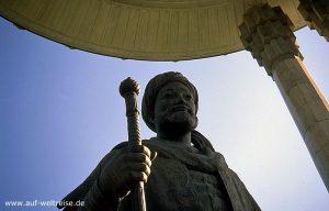 Zentralasien, Usbekistan, Taschkent, Asien, Seidenstraße, Mittelasien, Islam, Alisher Navoiy, Volksheld, Denkmal, Architektur, Nationaldichter, Dichter, Schriftsteller, Autor