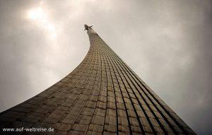 Russland, Moskau, Denkmal für die Eroberer des Weltraums, Denkaml, Bauwerk, hoch, Himmel