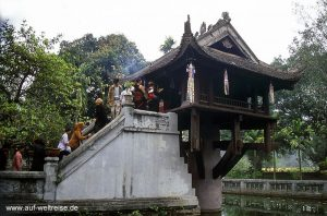 Chùa Một Cột, Hanoi, Vietnam, Südostasien, Asien, Indochina, Ein Pgahl Pagode, Pagode, Chua, Gotteshaus, glauben