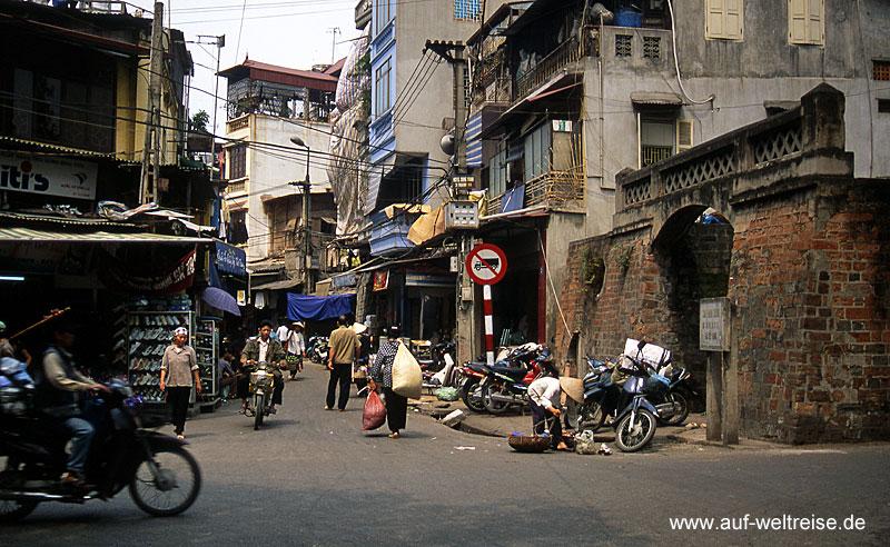 Vietnam, Hanoi, Altstadt, Südostasien, Hauptstadt, Markt, Straße, Bauwerke, Architektur, vietnamesisch, französisch, Menschen, Verkehr, Essen, Asien, Indochina