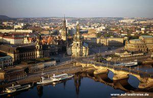 Dresden, Deutschland, Sachsen, Luft, fliegen, Schloss, Elbe, Fluss, Himmel, Schiff