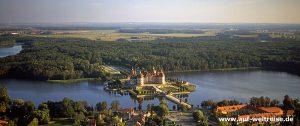 Deutschland, Sachsen, Moritzburg, Schloss, August der Starke, See, Ort,, Luft, fliegen, Himmel
