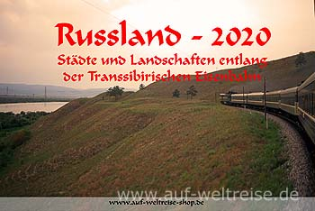 Wandkalender - Russland 2020 - Transsibirische Eisenbahn