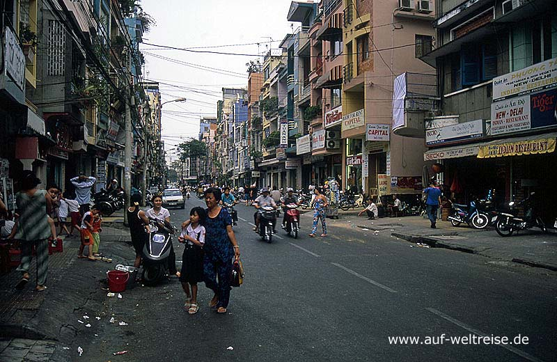 Vietnam Saigon amerikanisches Viertel, Backpacker Viertel