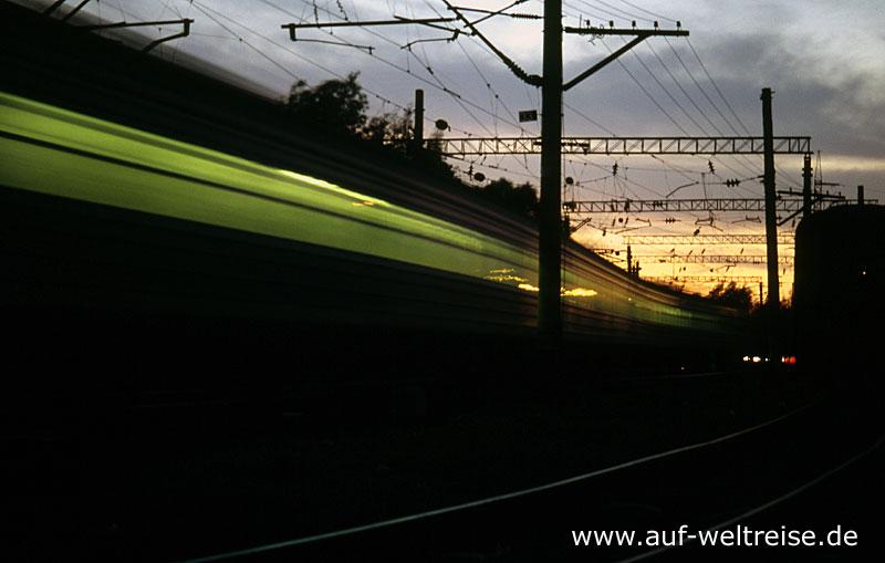 Russland, Eisenbahn, Kasachstan Express, Zug, Bahn, Asien, Zentralasien, Europa, Reisen, unterwegs, Nacht