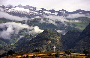 Europa, Schweiz, Brig, Berge, Alpen, Wallis, Südschweiz, Jakobsweg, Kreuz, Landschaft, Natur