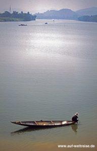 Vietnam, Boot, Fischer, Mann, Wasser, Südostasien, Asien, fischen, Leben, schwimmen