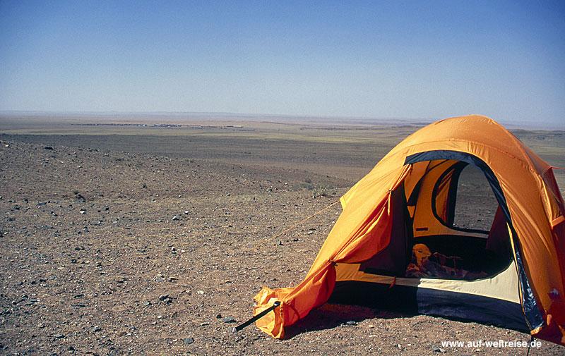 Zelt, Wüste, Mongolei, Asien, Tunnelzelt, campen, Trekking, Outdoor