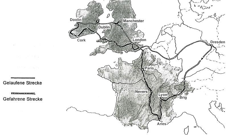Wanderung Europa 1998